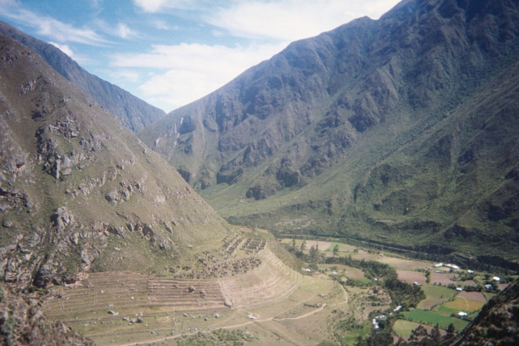 Inca farm in Peru