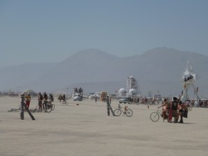 Bike Slingshot at Burning Man