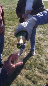 Champagne after ballooning