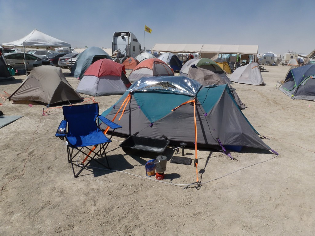 Burning Man camp set up